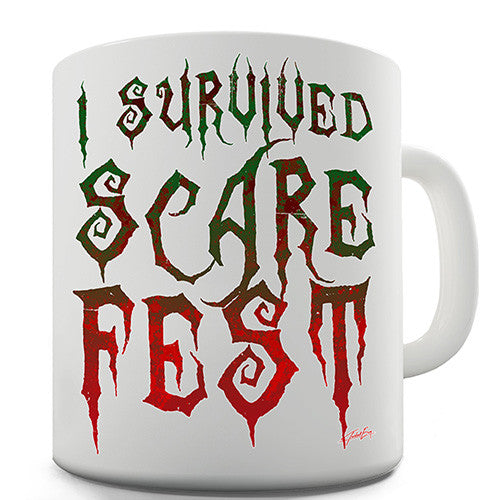 I Survived Scare Fest Novelty Mug