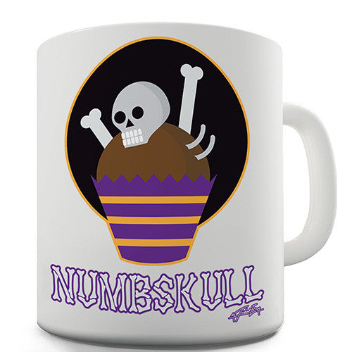 Halloween Numbskull Skeleton Novelty Mug