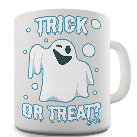 Trick or Treat Spooky Ghost Novelty Mug