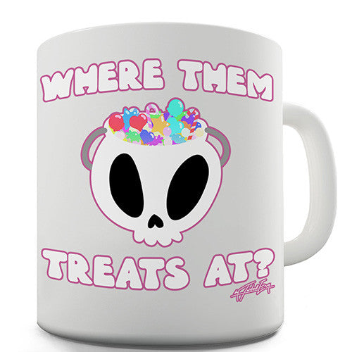 Halloween Where Them Treats At Novelty Mug