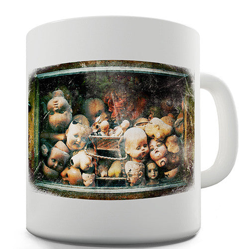 Creepy Dolls Heads Novelty Mug