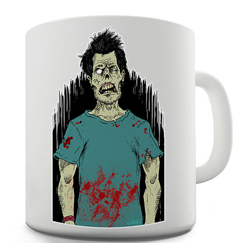 Confused Zombie Novelty Mug