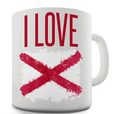 I Love Northern Ireland Novelty Mug