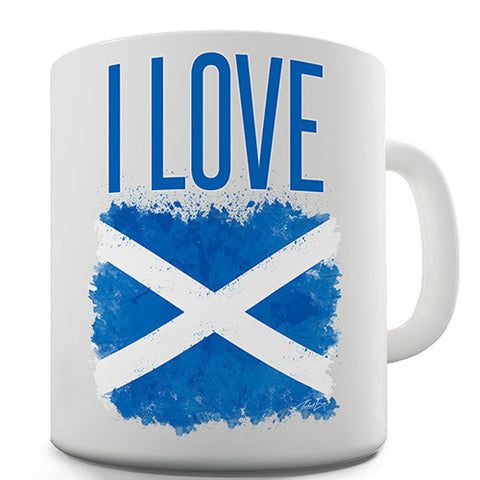 I Love Scotland Novelty Mug