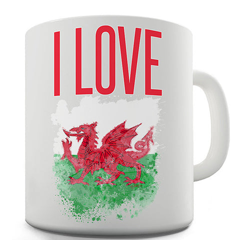 I Love Wales Novelty Mug