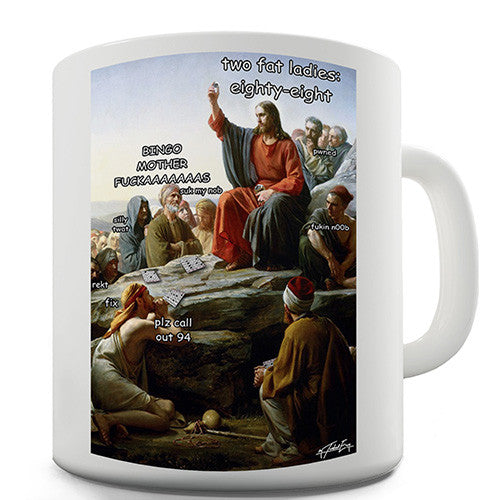 Bingo On The Mount Carl Bloch Novelty Mug