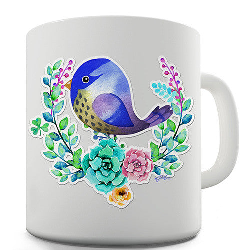 Decorative Starling Bird Novelty Mug