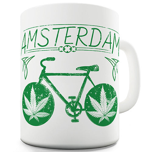 Amsterdam Weed Bike Novelty Mug