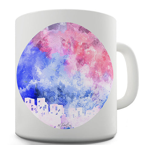 Rainbow Moonlit City Novelty Mug