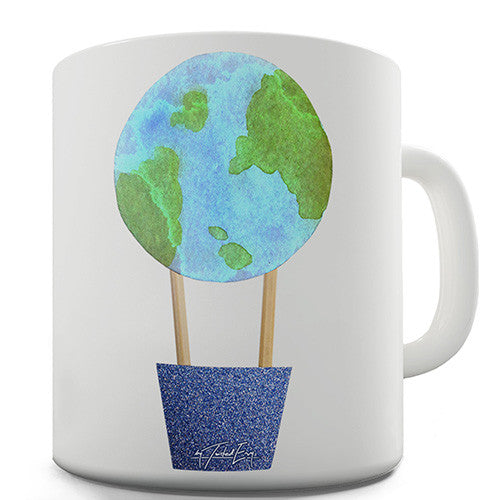Earthballoon Hot Air Balloon Novelty Mug