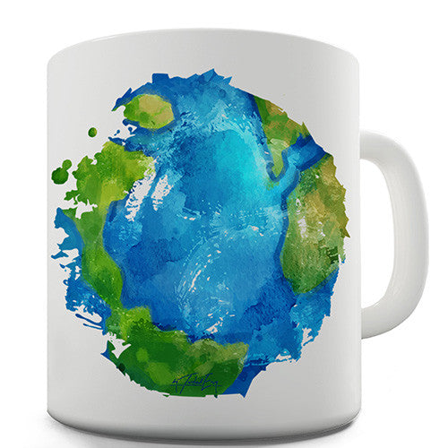 Global Warming Melting Earth Novelty Mug