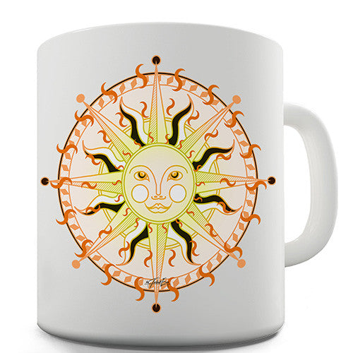 Celestial Sun Face Novelty Mug