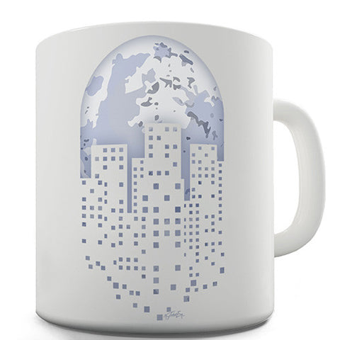 Pixel Art Planet Earth Novelty Mug