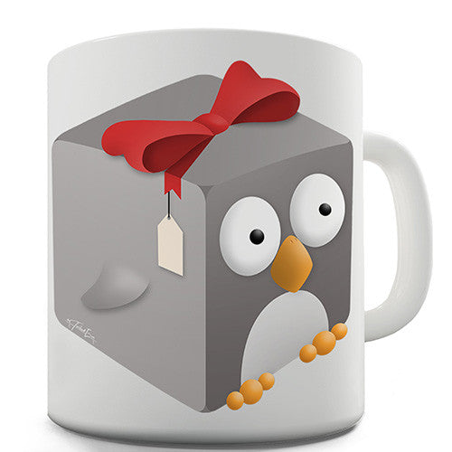 Guin The Penguin Cube Novelty Mug