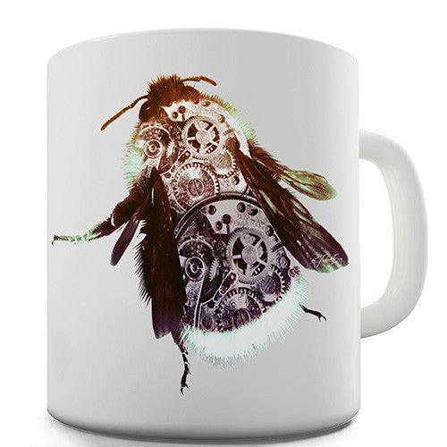 Clockwork Steampunk Bumblebee Novelty Mug