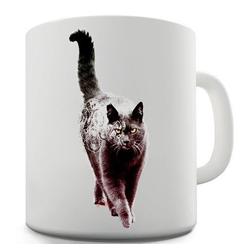Clockwork Cat Novelty Mug