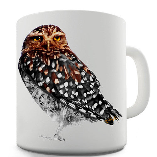 Clockwork Little Owl Novelty Mug