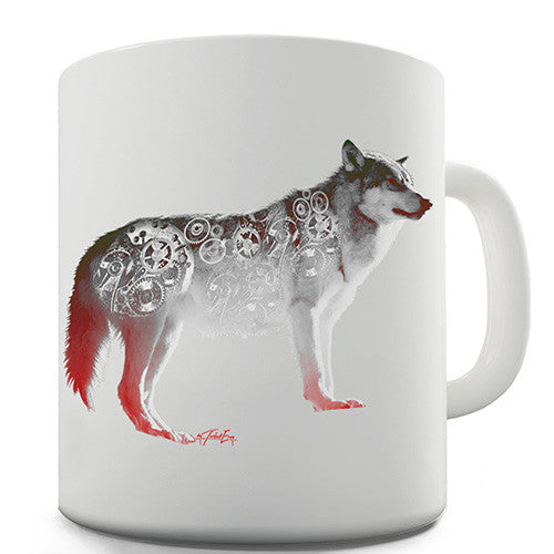 Clockwork Wolf Novelty Mug