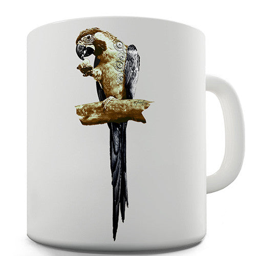 Clockwork Parrot Novelty Mug