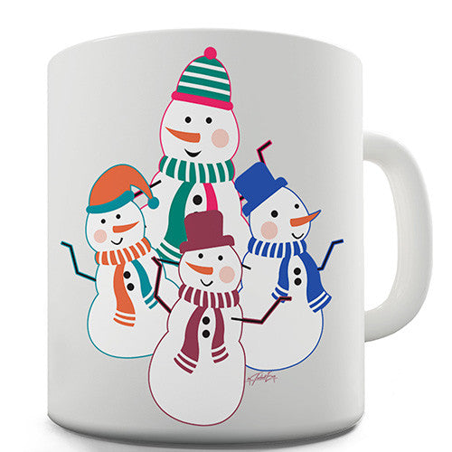 Dancing Snowmen Novelty Mug