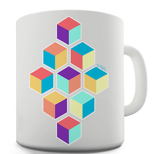 Geometric Cubes Novelty Mug