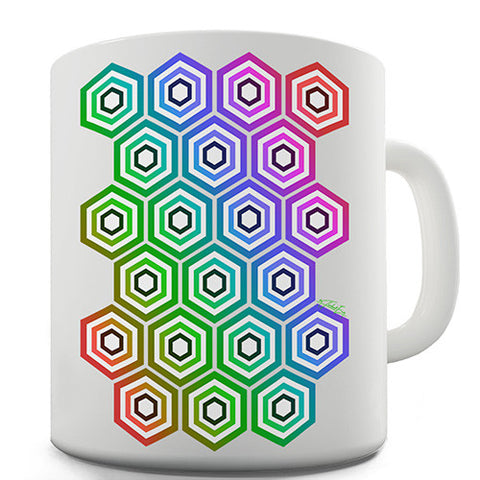 Geometric Hexagons Novelty Mug