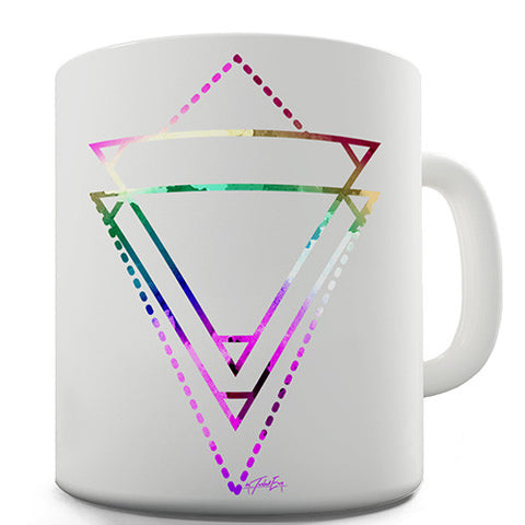 Geometric Watercolour Triangles Novelty Mug