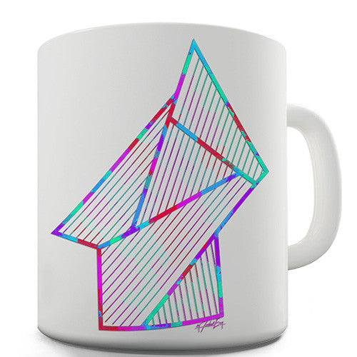 Geometric 80s Polygons Novelty Mug