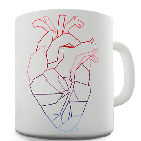 Geometric Heart Novelty Mug