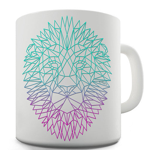 Geometric Lion Novelty Mug