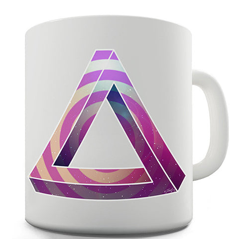 Geometric Patterned Penrose Triangle Novelty Mug
