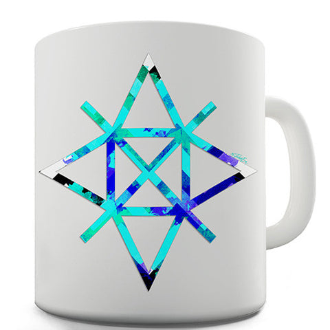 Geometric Paint Splattered Shapes Novelty Mug