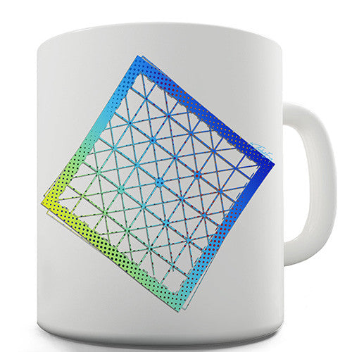 Geometric Halftone Square Novelty Mug
