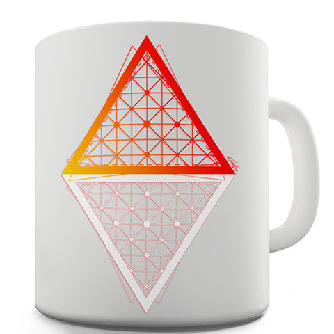 Geometric Triangle Polygons Novelty Mug