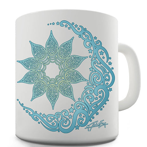 Decorative Blue Mandala Novelty Mug