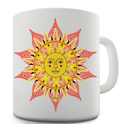 Decorative Mandala Sun Novelty Mug