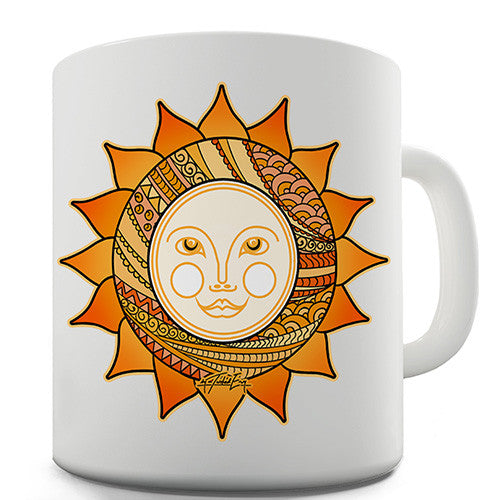 Decorative Smiling Sun Novelty Mug