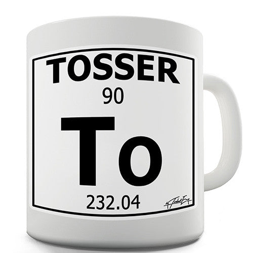 Periodic Table Of Swearing Tosser Novelty Mug