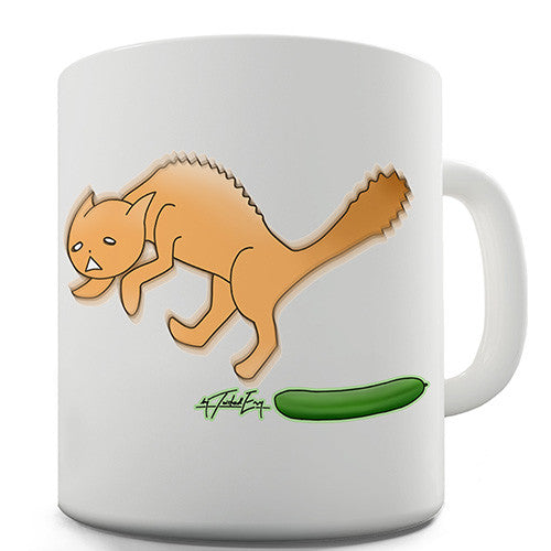 Cats Scared Of Cucumbers Novelty Mug