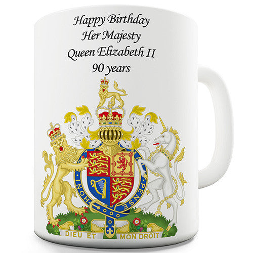 Queen's 90th Birthday Commemorative Novelty Mug