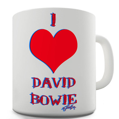 I Love David Bowie Novelty Mug