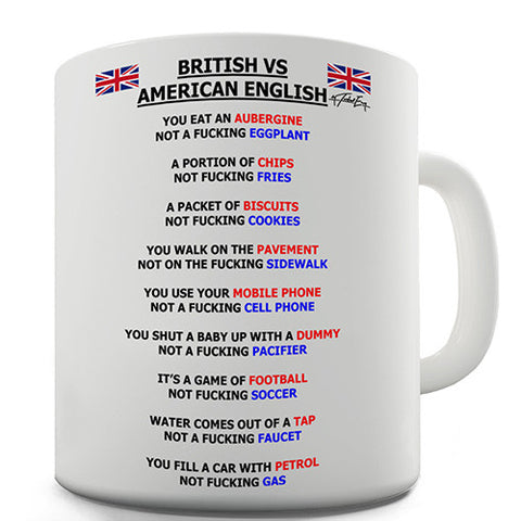 British vs American English Grammar Novelty Mug