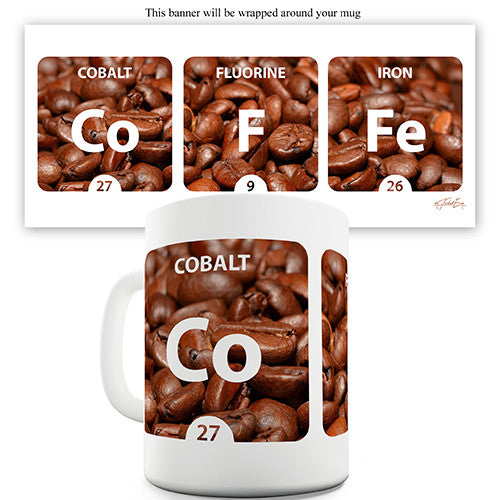 Coffee Periodic Table Novelty Mug