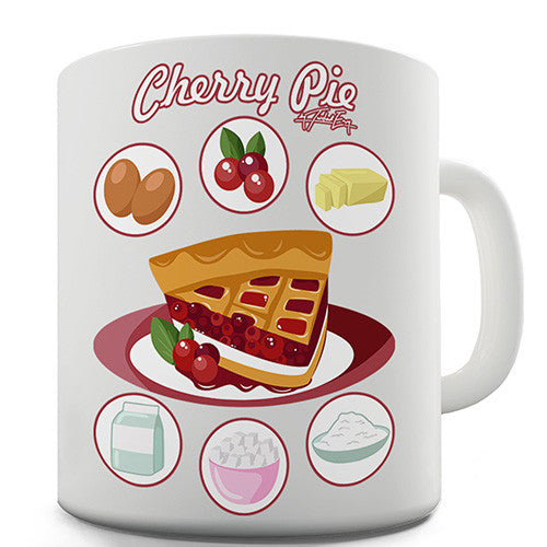 Cherry Pie Recipe Novelty Mug