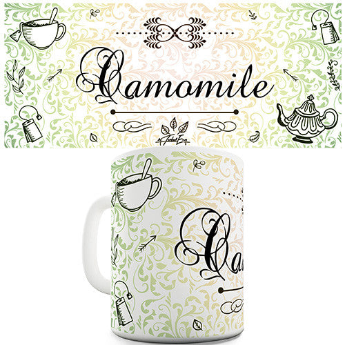 Decorative Camomile Tea Novelty Mug