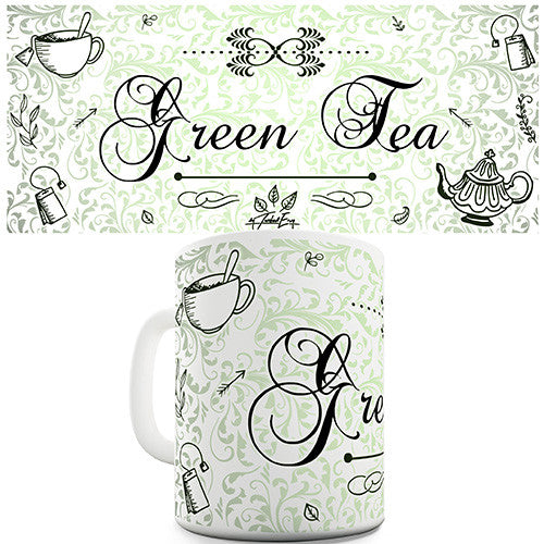 Decorative Green Tea Novelty Mug