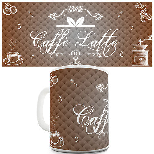 Decorative Caffe Latte Novelty Mug