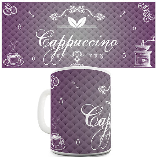 Decorative Cappuccino Coffee Novelty Mug