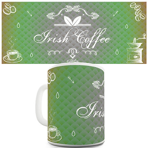 Decorative Irish Coffee Novelty Mug