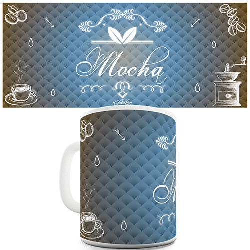 Decorative Mocha Coffee Novelty Mug